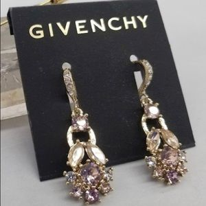 Givenchy• Pink Rhinestone Earrings